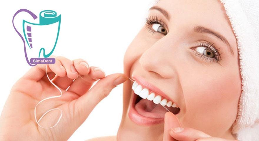 نخ دندان و شیوه درست استفاده از آن