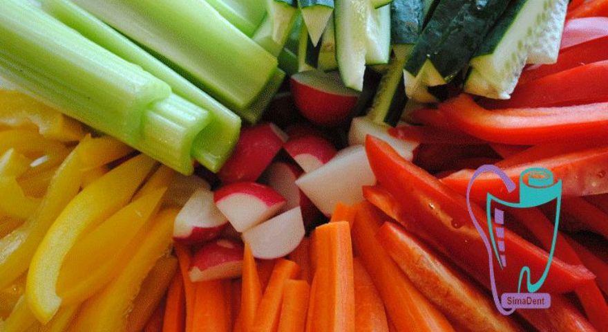 سبزیجات و میوه ها و سلامت دندانها
