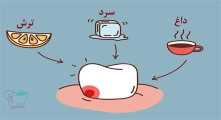 حساسیت نسبت به غذاها و مایعات داغ یا سرد